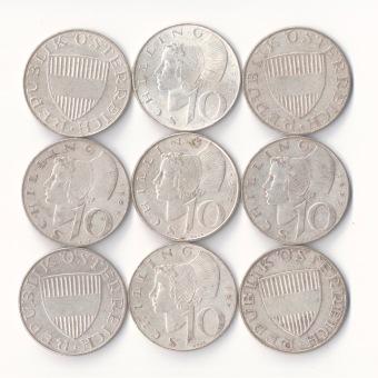 10 Schilling Silbermünzen Foto Silber Ankauf Graz Münzhandlung - 1