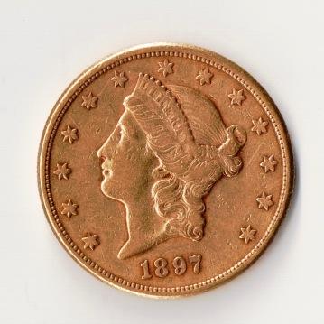 20 Dollar 1897 Gold Foto Münzen Ankauf Graz Münzhandlung - 1