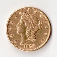 20 Dollar Goldmünze 1891 Münzen Ankauf Graz Goldankauf - 1